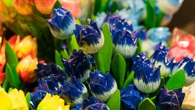 Wooden tulips Royalty Free Stock Photos