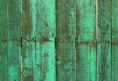 Wooden turquoise background. Wooden turquoise vintage  fence  background Royalty Free Stock Images