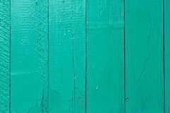 Wooden turquoise fence Stock Photos