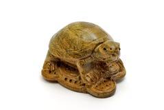 Wooden turtle money Stock Image