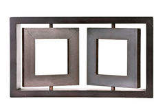 Wooden twin portrait frame Royalty Free Stock Photo