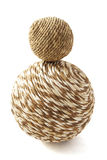 Wooden twisted ball Royalty Free Stock Image