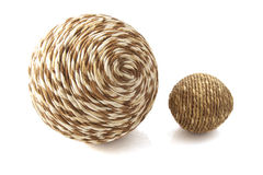 Wooden twisted ball Royalty Free Stock Photo