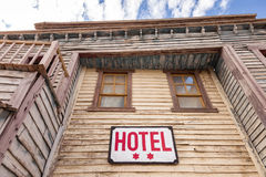Wooden two star hotel Stock Photography