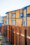 Wooden two-storey houses Stock Photography