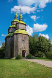 Wooden ukrainian ancient church Stock Photos