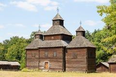 Wooden Ukrainian Antique Orthodox Church Royalty Free Stock Image