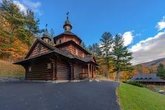 Wooden Ukrainian church Royalty Free Stock Images