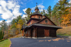 Wooden Ukrainian church Royalty Free Stock Image