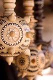 Wooden Ukrainian maces Stock Photo