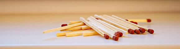 Wooden unused matches Royalty Free Stock Images