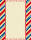 Wooden usa background Royalty Free Stock Image