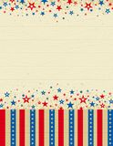 Wooden usa background Stock Image