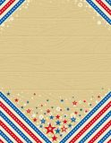 Wooden usa background with stars Stock Image