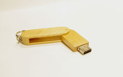 Wooden USB Royalty Free Stock Image