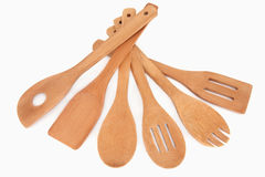 Wooden Utensils Stock Images