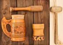 Wooden utensils Stock Images