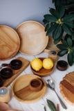 Wooden utensils. For the kitchen, handmade. Yekaterinburg, Russia stock photos