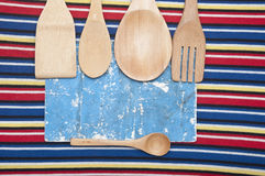 Wooden utensils Royalty Free Stock Images