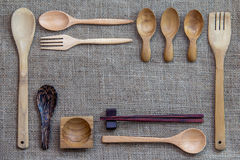 Wooden utensils Royalty Free Stock Photos