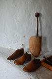 Wooden utensils for shoe making Stock Images