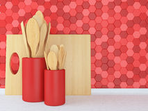 Wooden utensils. Royalty Free Stock Image