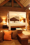 Hotel Room Suite. Wooden vacation chalet / suite at a Tropical Resort Royalty Free Stock Images