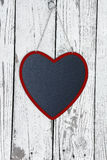 Wooden Valentine chalkboard heart. Royalty Free Stock Photos