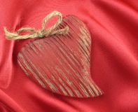 Wooden Valentine Heart Royalty Free Stock Photography