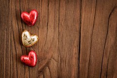 Wooden valentine's background Stock Photography