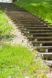 Wooden vanishing ladder outdoor Stock Images
