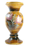 Wooden vase Stock Image
