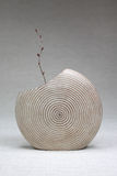Wooden vase Stock Photo