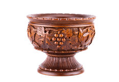 Wooden vase Royalty Free Stock Photography