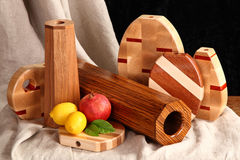Wooden vases Royalty Free Stock Photo