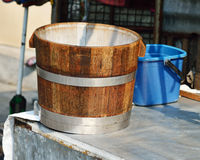 Wooden vat. Stock Photo