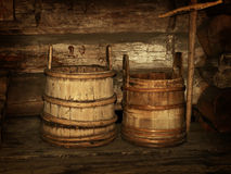 Wooden vats Royalty Free Stock Photo
