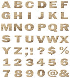 Wooden vector alphabet Stock Images