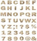 Wooden vector alphabet vector illustration