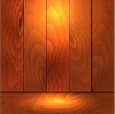 Wooden vector background in backlit Stock Photos