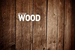 Wooden Vector Background. Wood Backdrop for Creative Designs stock illustration