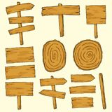 Wooden Vector, Set of wooden for Design. Decorative wood banners perfect for card making royalty free illustration