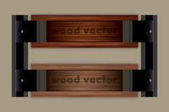 Wooden Vector Tiltle Background. Wooden vector for title placement Stock Photo