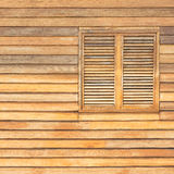 Wooden ventilator. Traditional classic wooden ventilator on house wall Royalty Free Stock Photography