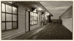 Wooden veranda on the beach Royalty Free Stock Images