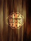 Wooden vertical planks background. Realistic dark wood texture.V Stock Photo