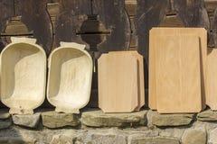 Wooden vessels Stock Photos