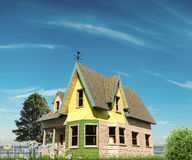 Wooden victorian house style Royalty Free Stock Image