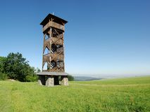 Wooden view-tower Sance Stock Images