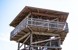 Wooden view tower in Viru raba - estonia. Spring Stock Photography
